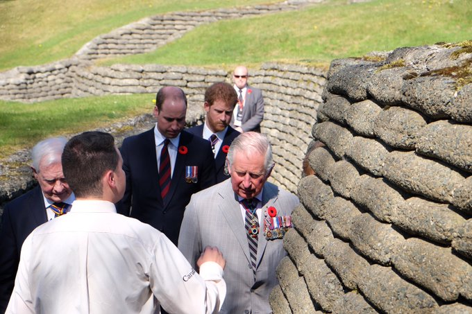 Their Royal Highnesses have arrived at Vimy Ridge and are touring the trenches ahead of today's #Vimy100 commemorative service.