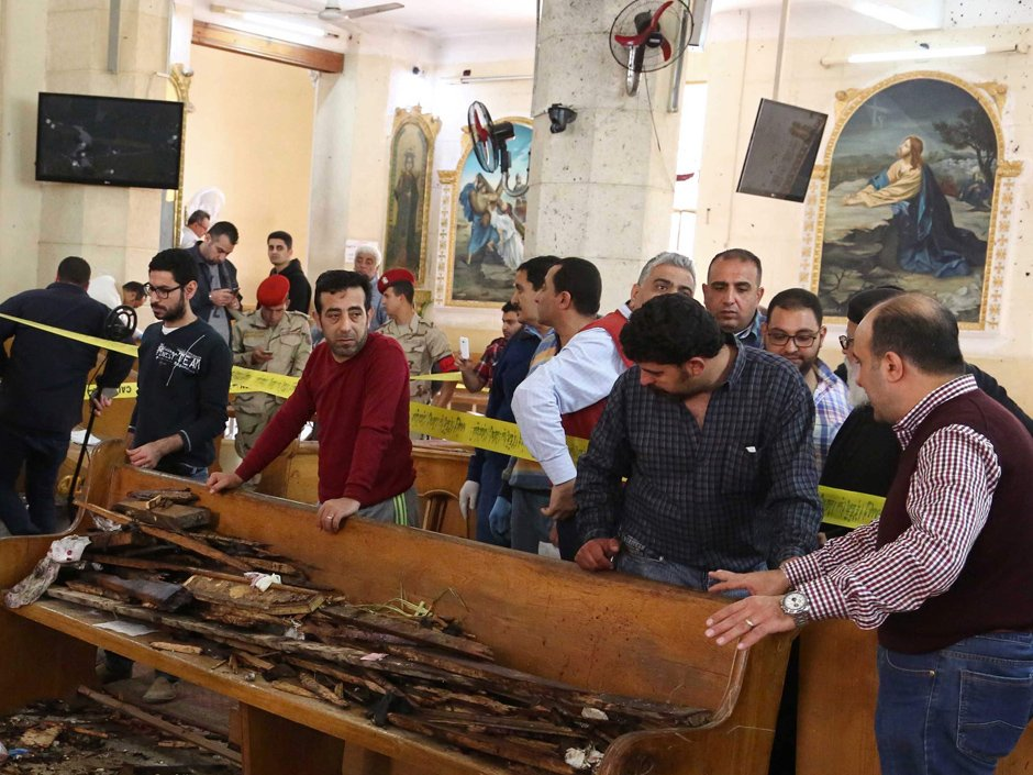 ISIL claims responsibility for two Palm Sunday church bombings in Egypt; at least 37 dead