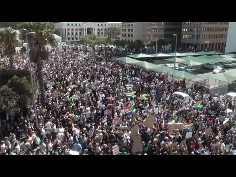 VIDEO -  Protests across South Africa: thousands march to demand Zuma's resignation