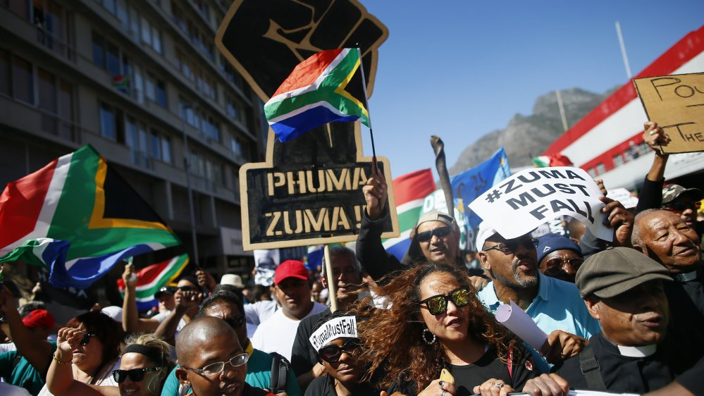 Thousands march in South Africa to demand Zuma resign