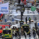 Four killed, 15 wounded as truck crashes into crowd in Stockholm; PM Lofven calls it a terror attack