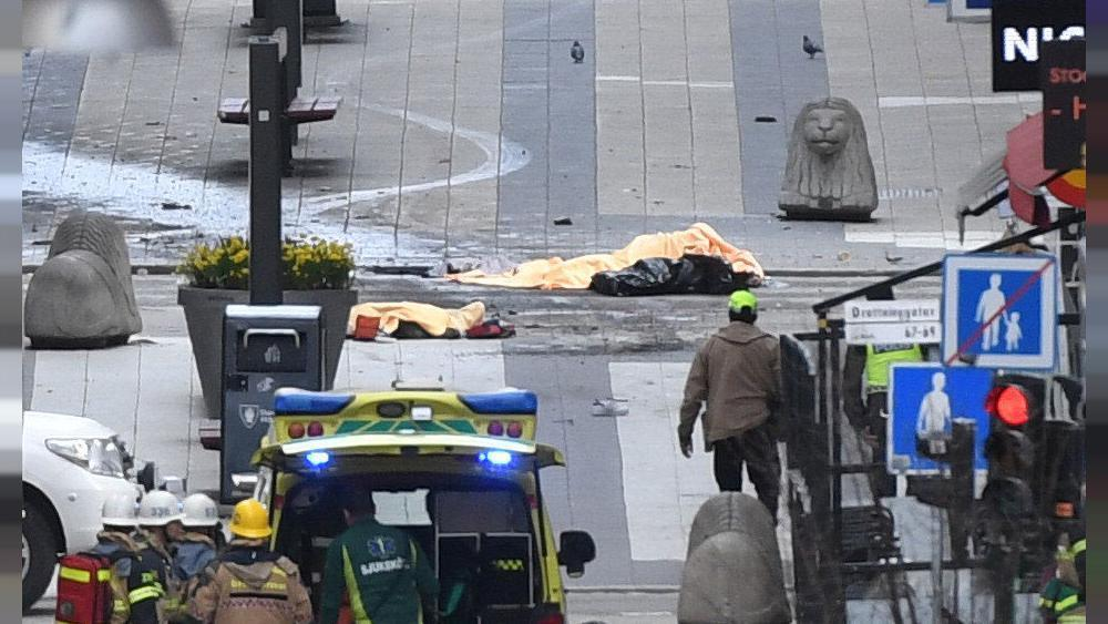 Sweden: four killed, 15 wounded as truck hits Stockholm crowd