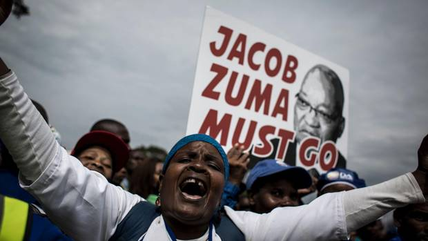 Thousands of anti-Zuma protesters march across South Africa