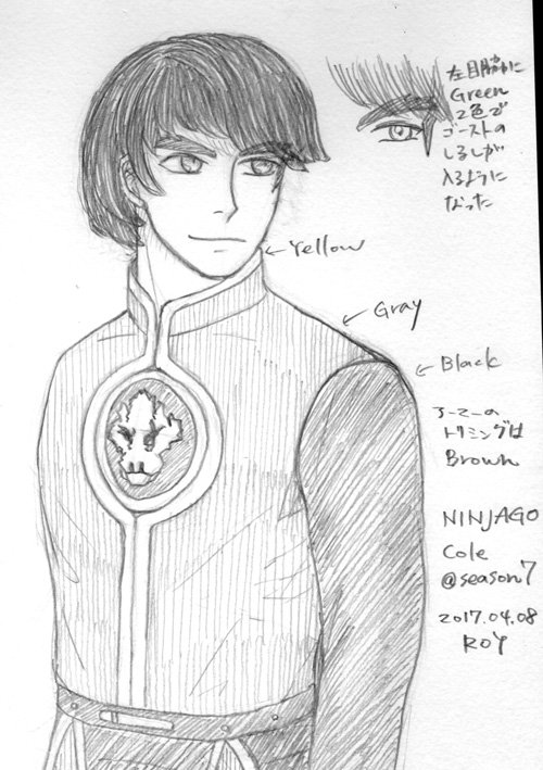 #ninjago  COLE @ season07昼間に言ってたシーズン7時空の支配者編でのコールの鎧のアンダーというか