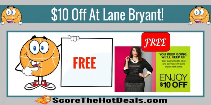 **FREE** $10 Off At Lane Bryant Coupon!free freebie freebies lanebryant freeclothing