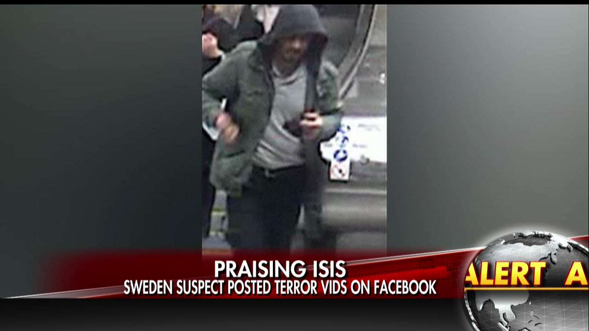 REPORT: Sweden suspect posted terror vids on Facebook.