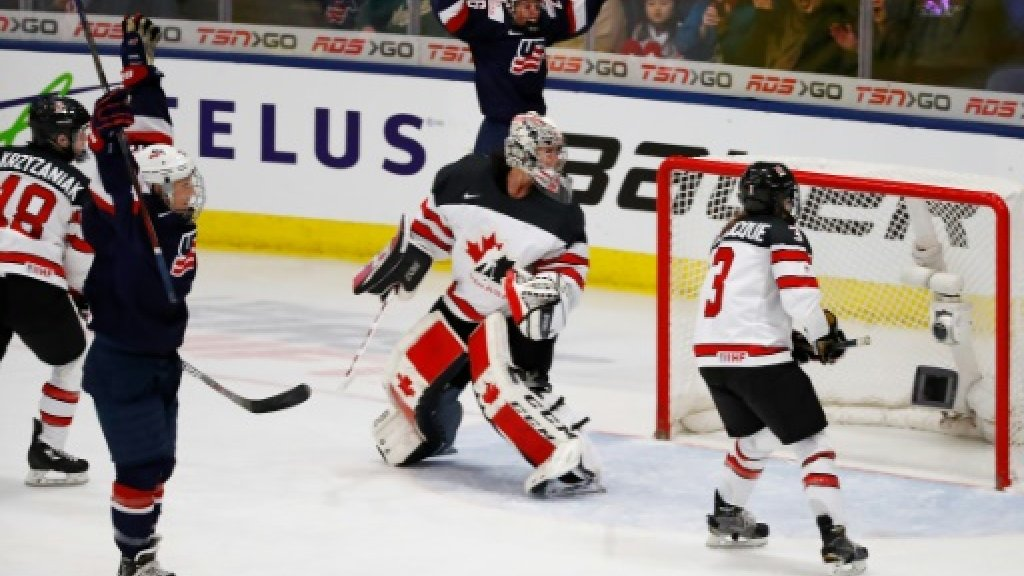 USA down Canada in overtime for women's ice hockey world title