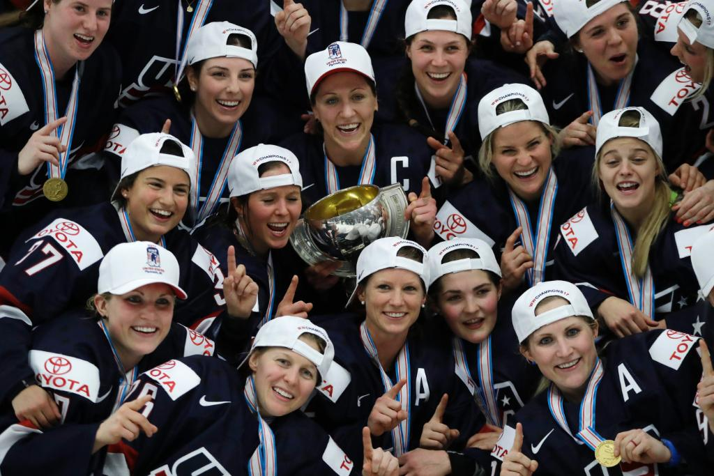 U.S. women's hockey wins world championship over Canada after fighting for fair pay
