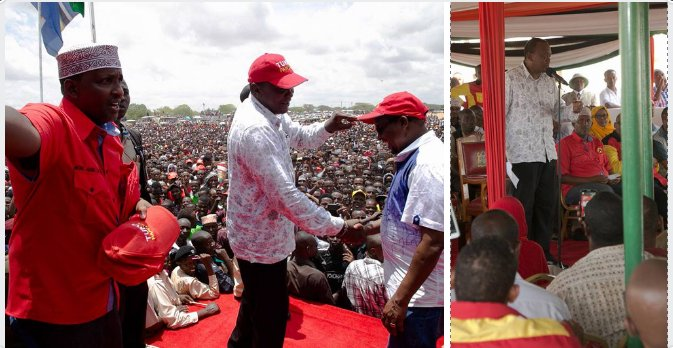 Uhuru receives several ODM politicians during tour of Wajir