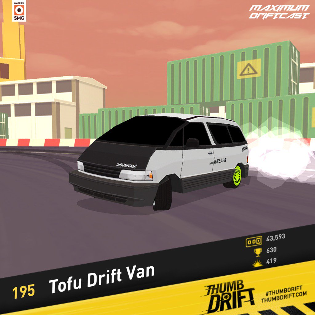 Download #thumbdrift at  and try to beat my score of 195 https://t.co/E5wIBUFboF