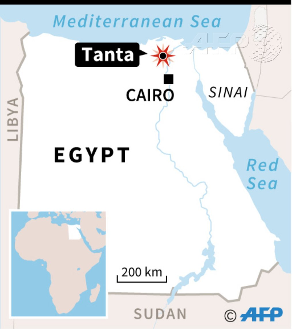 Map locating bomb blast at a church in , north of cairo which has ...