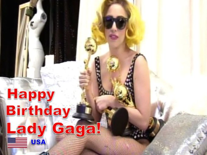 Happy Birthday to World Music Awards Multiple Winner, the One & Only #ladygaga! @ladygaga  💗💕🇺🇸🎤🎶🎼🍾🎂🌹🎊🌟💫🎇