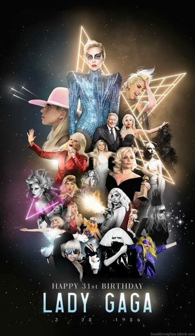 Happy birthday Lady Gaga! We love u xoxo