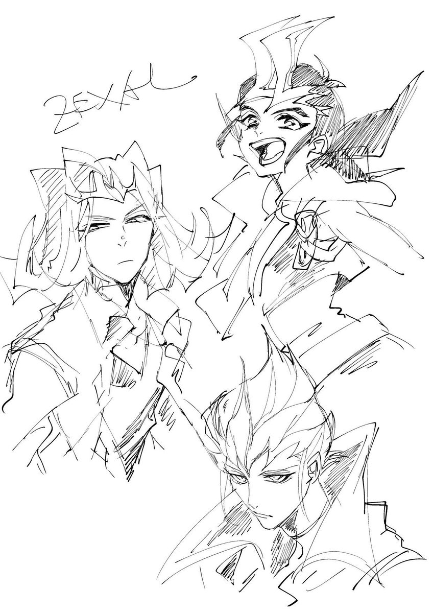 こないだ久しぶりにZEXAL描いたんですよ…三勇士ほんと好き……