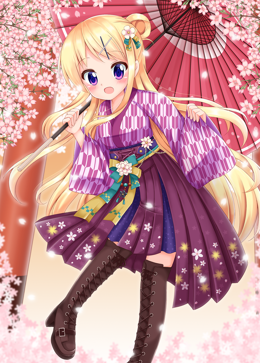 『和風デース!!大和撫子デース!!!』今年カレンちゃん22枚目は、レトロモダンな衣装&和傘のカレンちゃん♪#90の九条カ