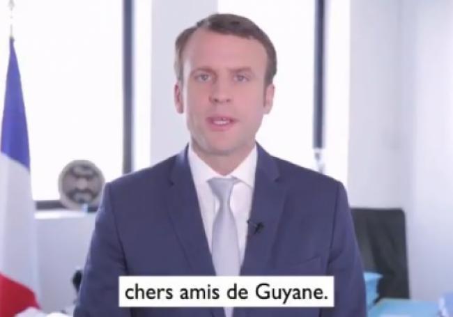 """VIDÉO - Macron : La Guyane a toujours """"su arracher"""" son droit """"à coups de colère"""" >> https://t.co/h8YG5H7yLk"""