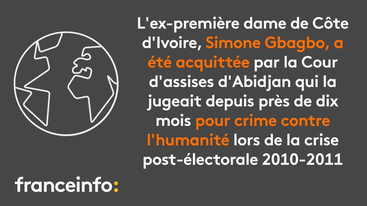 Côte d'Ivoire: Simone Gbagbo l'ex-première dame 'acquittée' de crime contre l'humanité