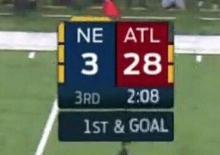 Image result for falcons vs patriots 28-3