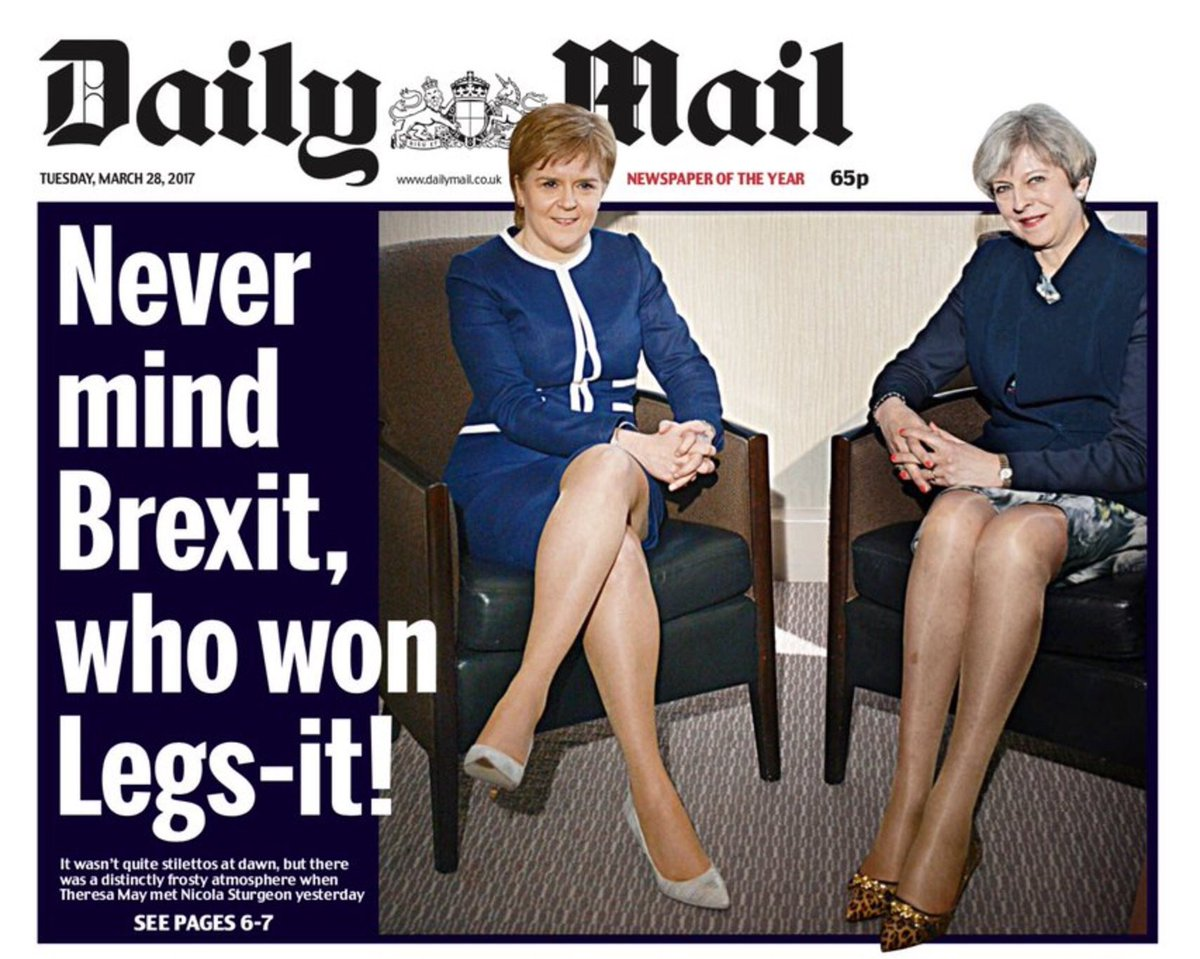 The headline should clearly be 'WOMEN ARE OBJECTS.'