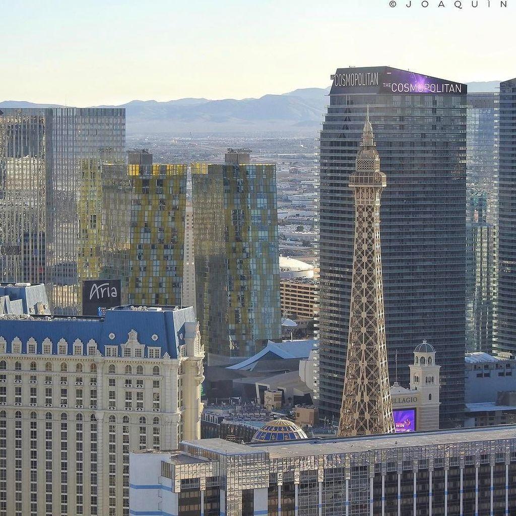 Las Vegas, Nevada. #landscape #lasvegas #nevada #hotel #eiffel #paris #aria #thecosmop ...