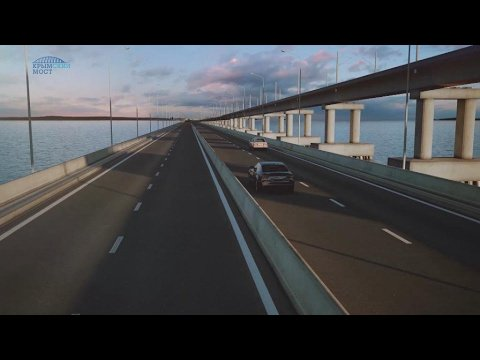 VIDEO -  Video: Putin building bridge from annexed Crimea to mainland Russia
