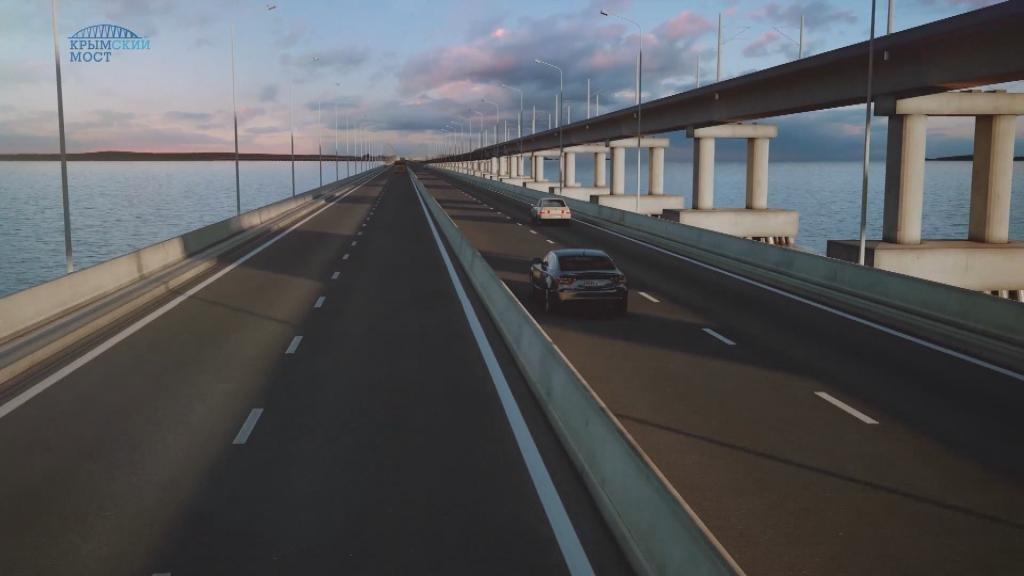 Video: Putin building bridge from annexed Crimea to mainland Russia