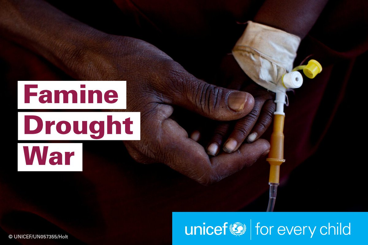 Time is running out in NE Nigeria, Somalia, S Sudan and Yemen. Children can't wait: https://t.co/EV1WFQMmOF  #4famines