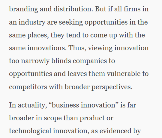 "test Twitter Media - Business innovation is ""about new value not new things"" and is broader than product or technology innovation via @MITSloan [2006]. https://t.co/Q77lONdnzN"