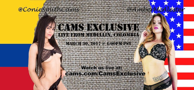 @AmberMcalester and @coniesmithcams will be live 3/30/17 @ 4PM PST   https://t.co/RLiVhxlSTs Come see