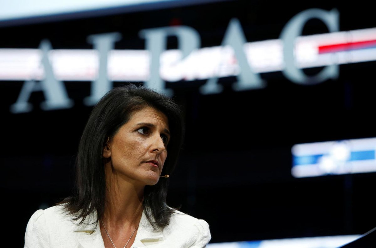 """Nikki Haley has promised to end """"Israel-bashing"""" bias at the United Nations"""