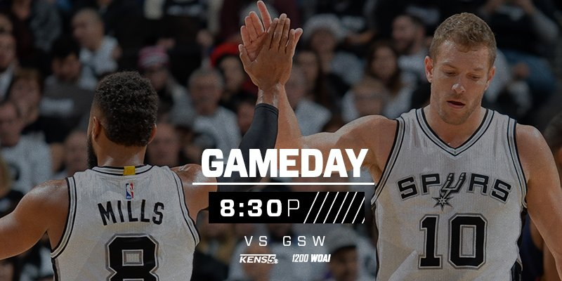 Our homestand continues with a late tipoff tonight against the Warriors. #GoSpursGo