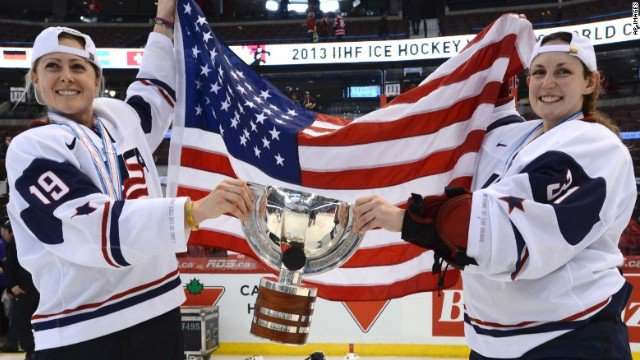 US Women's National Hockey Team members agree to 4-year deal after protesting for fair pay.