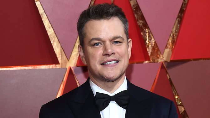 Matt Damon shrinks in Downsizing footage presented at
