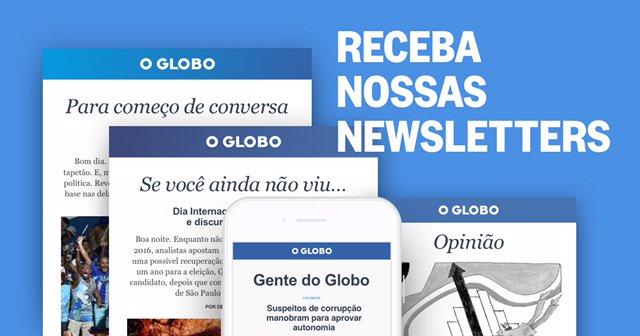 Receba gratuitamente o melhor conteúdo do GLOBO direto em seu e-mail! Assine nossa newsletter: https://t.co/TZmTTN3l2F