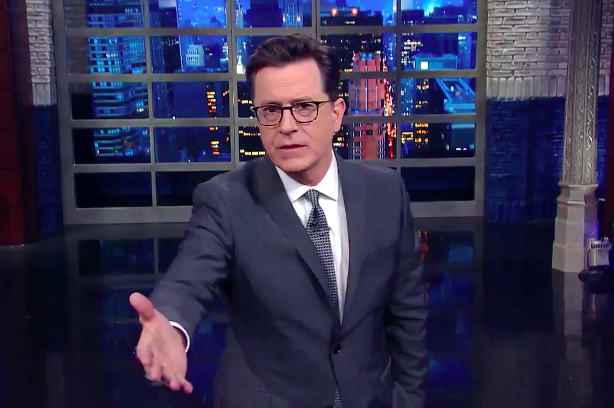 Stephen Colbert sums up Trump's climate change policy: 'F*ck the planet!' https://t.co/3WCpyFgq4Q