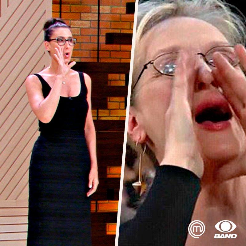 Não é possível que a @PaolaCarosella inventou o meme da Meryl Streep?!?!?! #MasterChefBR