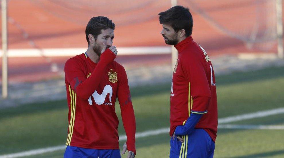 Piqué atizó al Real Madrid tras el Francia-España... y Sergio Ramos le respondió con estas palabras: https://t.co/h6c2MuWRR1