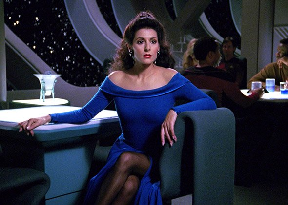 A happy 62nd birthday to Marina Sirtis, fondly remembered by Star Trek fans as Deanna Troi.