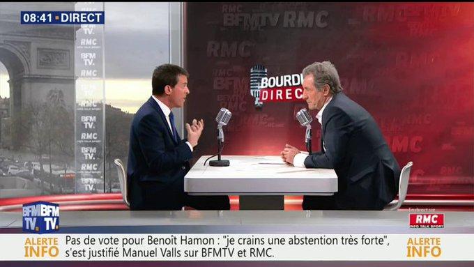 EN DIRECT - @manuelvalls : 'Avec @EmmanuelMacron, nous nous sommes toujours parlé très franchement' #BourdinDirect 📺 https://t.co/LIEhlp6yN7