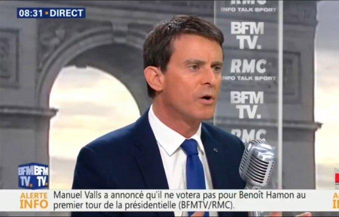 Présidentielle : Manuel Valls annonce qu'il votera pour Emmanuel Macron https://t.co/VpHp1lxdSE