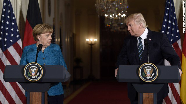After a combative meeting, Trump apparently sought to smooth things over with Angela Merkel during a chat by phone https://t.co/P3YP0M2oBQ
