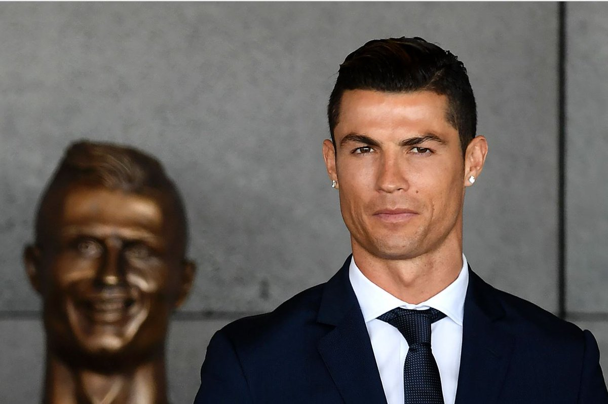 Please don't let Article 50 distract you from the unveiling of the most gloriously awful bust of Cristiano Ronaldo at Madrid airport