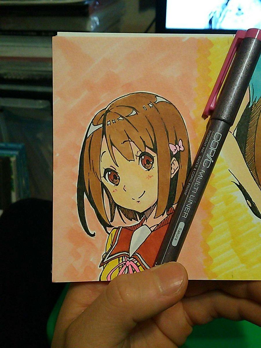 描いてみました~かおたんヾ(*´∀`)💕💕#tamayura