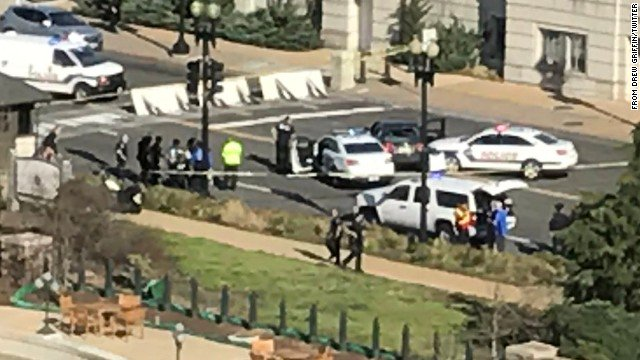 BREAKING: Shots heard near Capitol building after a man attempted to run over Capitol Police officers https://t.co/iIWTc4F0fb