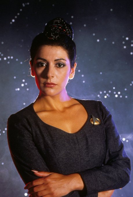 happy birthday to you and I love counselor Deanna Troi.