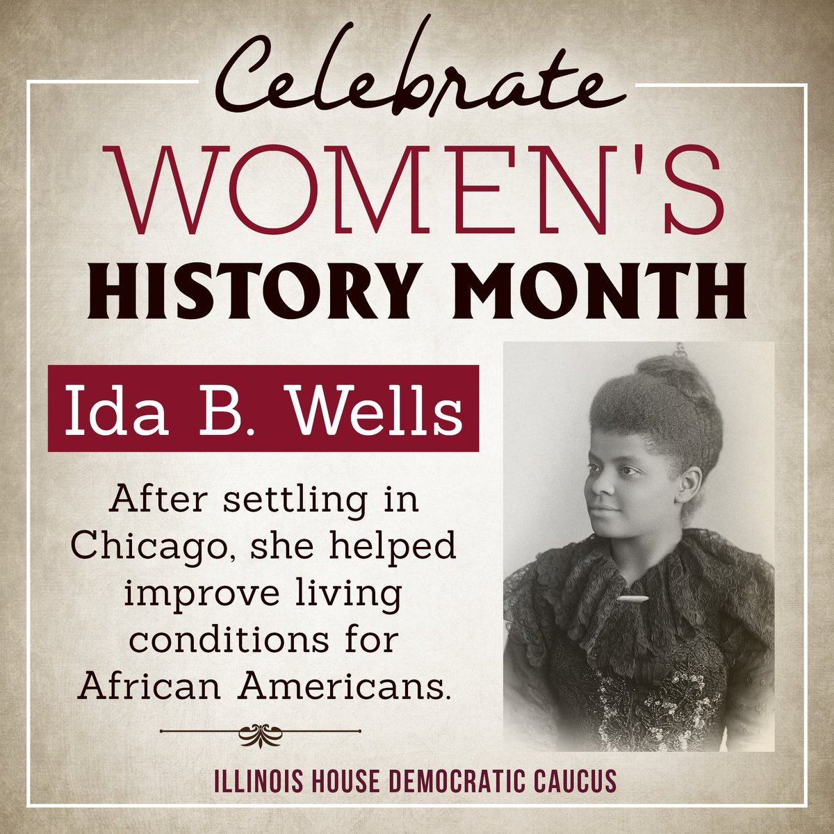 test Twitter Media - Ida B. Wells championed African-American rights after the Civil War and supported the foundation of the NAACP.  #WomensHistoryMonth https://t.co/ynP71eCm3z