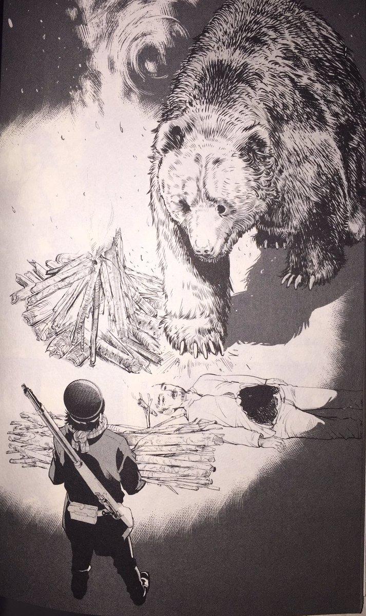 ヒグマがどのくらい強いのか知りたい人はゴールデンカムイを読もう。可愛いヒグマが見たい人はくまみこを読もう。#けものフレン