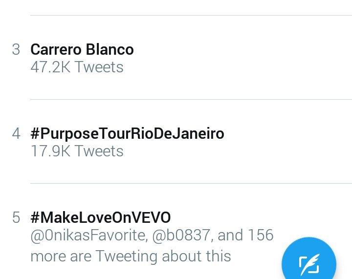 RT @barbieschain: Trending #5 worldwide @NICKIMINAJ #MakeLoveOnVEVO ???????????? https://t.co/n5fTwJcHYE