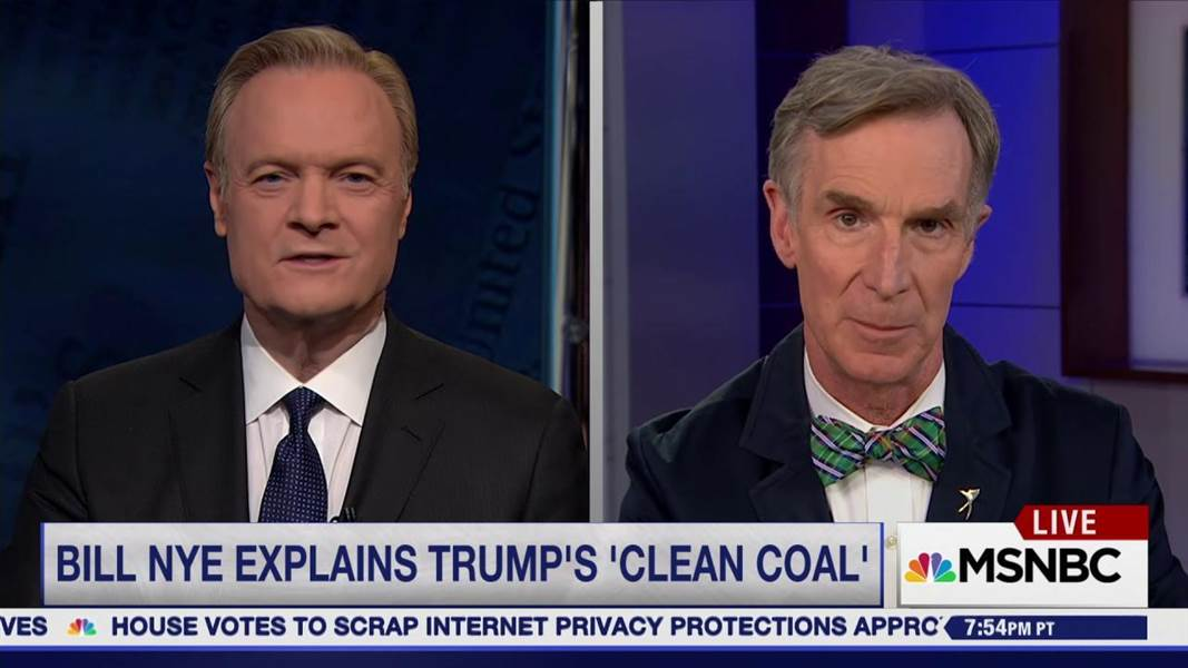 """Bill Nye on Trump's climate orders """"Clean coal is a myth"""""""