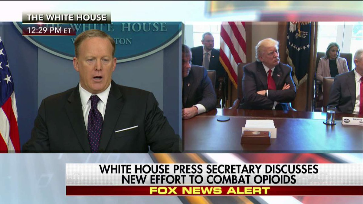 """.@PressSec on opioid task force """"We recognize the growth of this problem."""""""